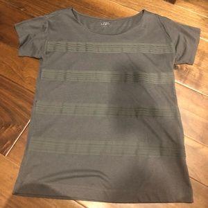 Ann Taylor loft grey striped T-shirt size M - NWOT